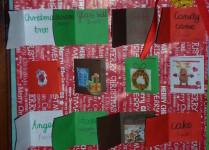 """słowniczek świąteczny w kształcie plakatu """"z okienkami"""""""
