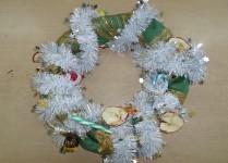 Stroik świąteczny wykonany przez uczniów naszej szkoły