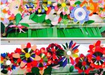 Wiosenne kwiaty wykonane przez dzieci
