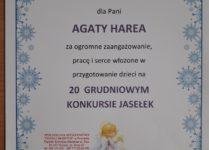 Dyplom dla wychowawcy