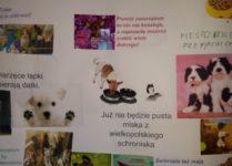 """plakat promujący akcję """"paczka dla zwierzaczka"""""""