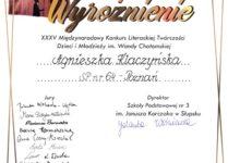 dyplom Agnieszka